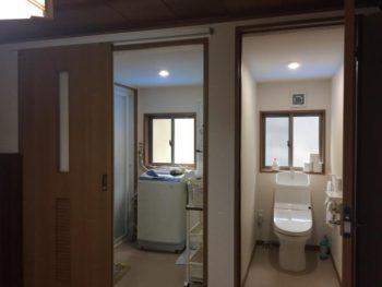 風呂・洗面所・トイレ建て替え、外壁・建具改修工事事例