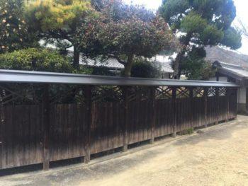 塀屋根改修工事事例