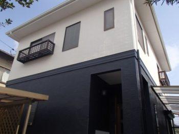施工事例 屋根、外壁の塗装・雨樋交換リフォーム工事
