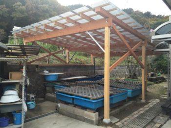 木製テラス作製工事事例