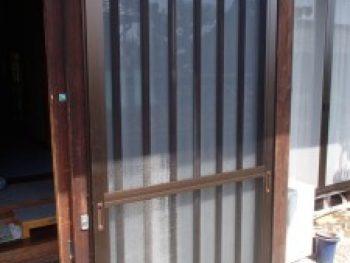 施工事例 玄関網戸設置リフォーム工事