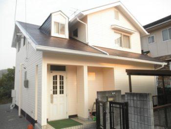 施工事例 屋根と外壁の塗装、改修リフォーム工事