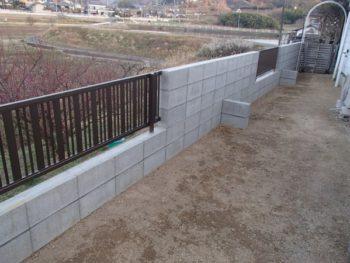 施工事例 ブロック塀改修リフォーム工事