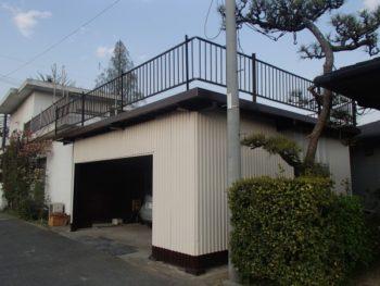 施工事例 車庫屋根防水・塗装リフォーム工事