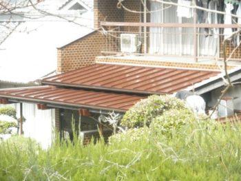 施工事例 板金屋根の塗装リフォーム工事