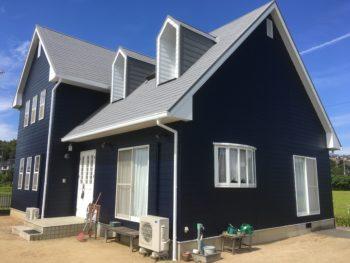 屋根(ガイナ)外壁(無機)塗装工事事例